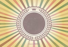 Colorful Retro Sunburst Vector Background
