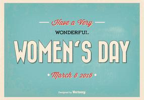 Happy Woman's Day Retro Vector Illustration
