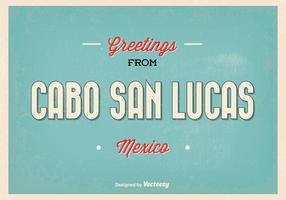 Cabo San Lucas Retro Greeting Illustration