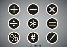 Math Symbols Circle Vector Sets
