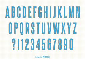 Retro Style Vector Alphabet Set