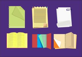 Flipped Pages Vector