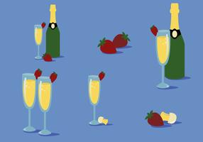 Free Strawberry Mimosa Vector