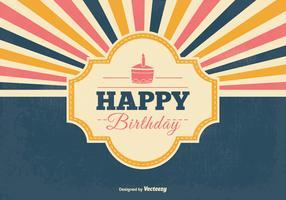 Retro Birthday Vector Illustration