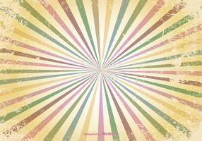 Retro Sunburst Grunge Vector Background