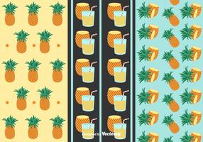 Free Ananas Patterns Vector