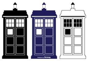 Tardis Vector Silhouette Shapes