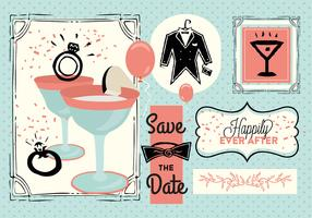 Free Save The Date Vector