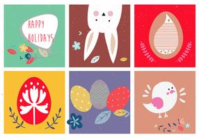 Cute Easter Vector Illustrations
