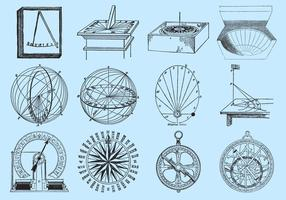 Old Style Drawing Sun Dials