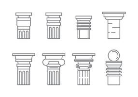 Free Roman Pillar Vector Icons #1