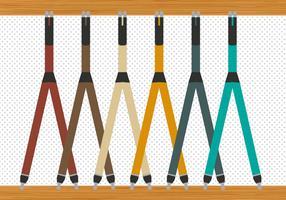 Free Modern Suspenders Vector