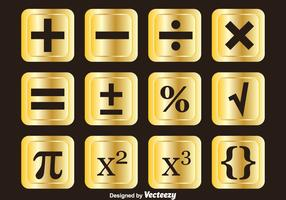 Golden Math Symbols Vector Sets