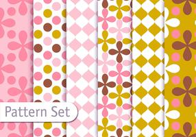 Retro Decorative Geometric Pattern Set