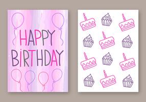 Free Happy Birthday Card Vector
