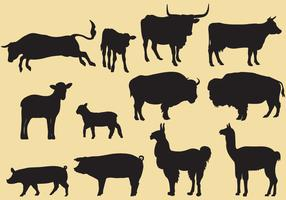 Cattle Silhouette Vectors