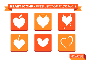 Heart Icons Free Vector Pack Vol. 8