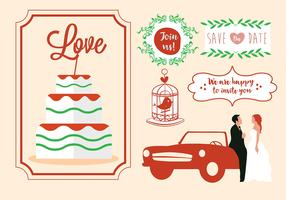 Free Vector Wedding Card Design