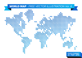 World Map Free Vector Illustration Vol. 6