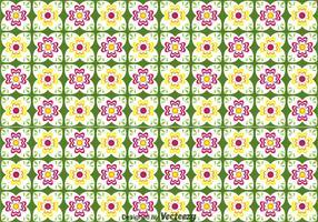 Talavera Flower Seamless Pattern