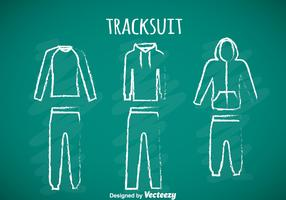 Tracksuit Chalk Draw Icons