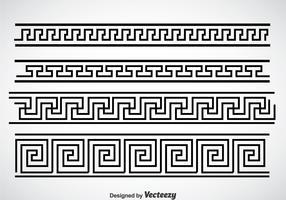 Greek Key Black Border Vector Sets