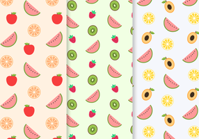Free Seamless Fruit Pattern Vector