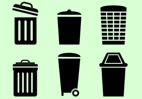 Free Trash Can Vector