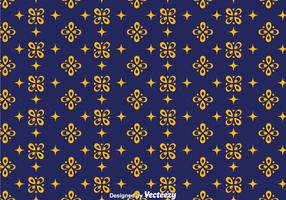 Dark Blue Batik Background Vector