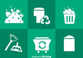 Garbage White Icons