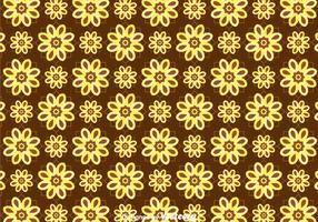 Batik Flower Background Vector