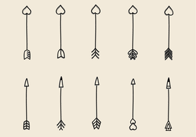 Free Hand Drawn Arrows Vector