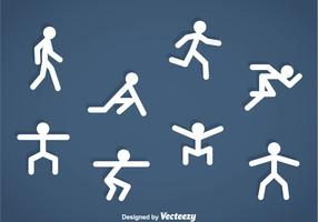 People Stickman Exercise Icons