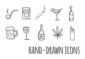Smoking and Drinking Vector Icons