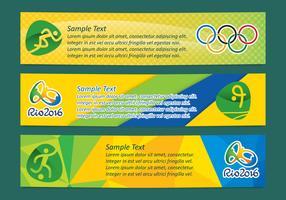 Brasil Olympic Banner Vectors