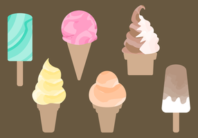 Free Watercolor Ice Cream Vector