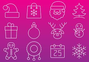 Christmas Line Icon Vectors