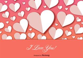 I Love You Postcard Background Vector