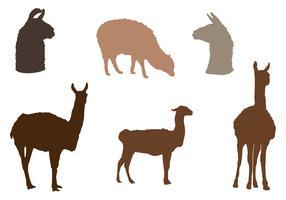 Alpaca Vector Silhouette Pack
