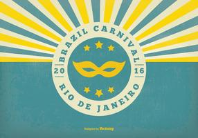 Retro Brazil Carnival Illustration