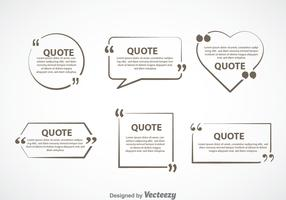 Gray Quotation Mark Text Bubble Vector Sets