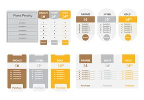 Pricing Option Table Vector