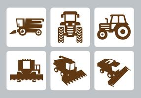 Free Tractor Icons Vector