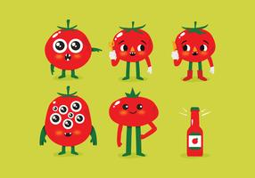 Vector Cute Tomato Monsters