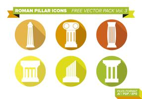 Roman Pillar Icons Free Vector Pack Vol. 3