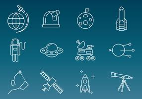 Space Technology Vector Icons