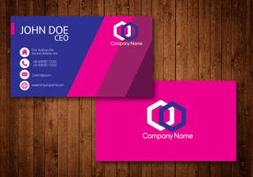 Hot Pink Creative Visiting Card Vector