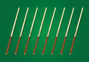 Pool Sticks Vector Collection