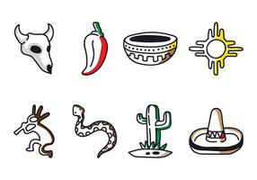 Southwest Doodle Icon Vectors