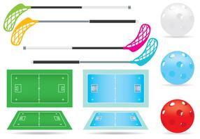 Vector Floorball Court And Items